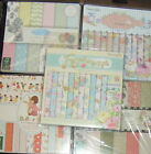 Card making craft paper 6 x 6 inch sheets various designs quantities scrapbook