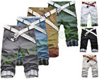 Fashion Men's Youth Slim Fit Plaid Casual Shorts Summer Bermuda Pants Trousers