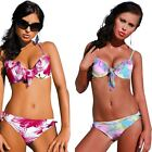 Push Up Padded Underwired Bikini Set with Tulle Frill High Quality Swimwear