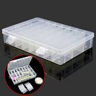 Plastic Adjustable 24 Compartment Storage Box Earring Jewelry Bin Case Container