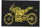 MOTOR BIKE PERSONALISED GREETINGS CARD - BIRTHDAY OR FATHERS DAY - DAD/SON/BOY