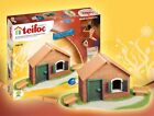 Teifoc brick construction toy-windmill-castle-house-penholder-waterwell-rebuild