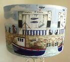 Cat & Dog Harbour Lamp shade,lampshade seaside blue shabby chic  Free Gift
