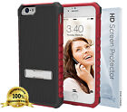 Slim Grip [RUGGED SERIES] Kickstand Case for iPhone 6 6S PLUS ScreenGuard | Red