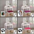 FC413 NEW THEMED WHITE FINISH MAKE UP VANITY TABLE W/ SEAT CUSHION BENCH MIRROR