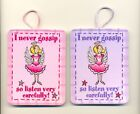 FAIRY FRIENDS Novelty PLAQUE/MAGNET I never gossip so listen..PURPLE or PINK New