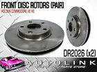 FRONT DISC BRAKE ROTORS TO SUIT HOLDEN VE COMMODORE CALAIS SV6 - V6 PAIR
