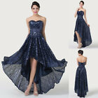 Retro Sequins Formal Evening Party Masquerade Ball Gown Bridesmaid Prom Dresses