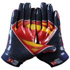 Under Armour Men's F4 Alter Ego Superman Football Gloves New FREE SHIPPING