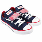 622379 CONVERSE DOUBLE TONGUE OX KIDS LOW NAVY RED