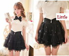 Girls Trendy Sweet Cute Kawaii classical Punk Gothic Mini shorts Skirts Black