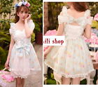Japan Sweet Princess Nana Dolly Cute Kawaii Lolita Slim Lace dress Onepiece M~L