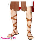 Mens Spartan Greek Warrior Roman Sandals Egyptian Footwear Costume Accessories