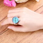 Creative Fashion Steel Round Elastic Quartz Finger Ring Watch Lady Girl Gift OE