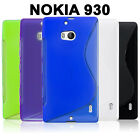 Gel Case TPU S Curve Slim Soft Thin Cover + Screen Protector for Nokia Lumia 930