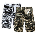 Mens Summer Combat Cargo Shorts Camo Army Casual Shorts Cotton Pants New 29-36