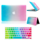Colorful Contrast Color Rubberized Hard Case Shell + Keyboard Cover For Macbook