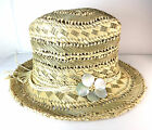 WHOLESALE LADIES SUMMER STRAW HAT BRAND NEW SHELL DETAIL BEACH WEAR HOLIDAY TIME
