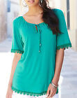 Anthology at Marisota Jersey Shortsleeved GYPSY Top BRIGHT GREEN Sizes 14 to 32