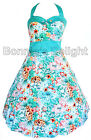 NEW BANNED WHITE TROPICAL FLORAL ROCKABILLY 1950S RETRO VINTAGE SWING DRESS 8-16