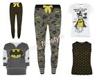 Pyjama Separates Pyjamas Batman T-shirt Top Ladies Women's Bottoms Primark