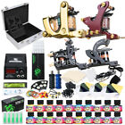 Tattoo Kit 4 Machine Guns 20 usa color Ink Equipment Needles Power Supply D139VD