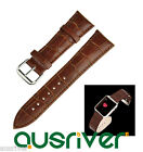 Crocodile Texture Genuine Leather Watchband Band Strap for Apple Watch 38mm/42mm