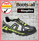 New KingGee Mens Work Boots Safety Steel Toe Lightweight Sports Runner Shoe Lime