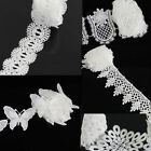 2 Yard Bridal Dress Polyester Sewing Trimming White Lace Trim Applique DIY Craft