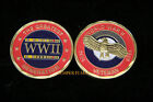 US WWII VETERAN CHALLENGE COIN THE GREATEST GENERATION GIFT USA USMC USN WOW!!