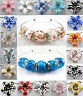Handmade European Style 925 Sterling Silver core Murano glass bead for bracelet