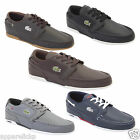 Lacoste Dreyfus TWD SPM Mens Black Brown Grey Leather Sneakers Lace Up Trainers
