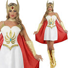 80s Adult Deluxe She-Ra Princess Fancy Dress - Ladies TV Character Costume