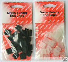 25 x DRESS BONING END CAPS 8mm OR 12mm ( CHOICE OF COLOUR )
