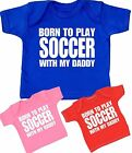 BabyPrem Baby Childrens Clothes SOCCER Daddy T-Shirts Tees Tops Shower Gifts