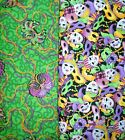 MARDI GRAS Fabrics, Sold Individually, Not As a Group, By The Half Yard