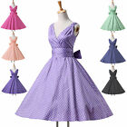 2015 Vintage 50s 60s Dress Rockabilly Swing Pin up Retro Housewife Dresses XS~XL