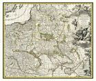 MAP ANTIQUE 1696 ALLARD POLAND LITHUANIA OLD LARGE REPLICA POSTER PRINT PAM0173