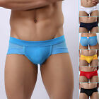Sexy Mens MESH HOLE Underwear Y-Front Briefs Shorts Mini Boxer Trunks Underpants