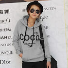 Cheap Womens COCO Print Hoodies Hooded Coat Casual New Sweatshirts Pullover Tops