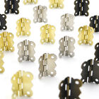 10/20/50pcs 30x25mm Decorative Butterfly Cabinet Butt Hinge Iron with Screw