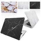 Smart Rubberized MARBLE Hard Case Cover for Various Apple Macbook Laptops