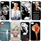 Marilyn Monroe New Style Durable Plastic Snap On Case For iPhone 4/4S