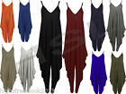 New Womens Ladies V Neck Low Back Harems All In One Romper Jumpsuit Dress S..XL