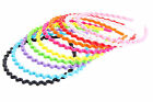 1pc Charm Ladies Women Girls Wavy Zigzag/Solid Hair Band Head Band Hoop Plastic