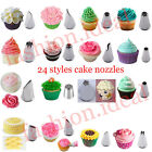 Cake Decorating Tips Nozzles Cupcake Pastry Icing Piping Bag Stand Tools Set #F