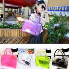 Candy Color Woman Transparent Beach Bucket Bag 2in1 Handbags Purse Satchel ItS7