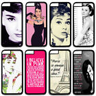 """Hard Cover Case For Apple 4.7"""" iPhone 6 With Actress Audrey Hepburn Retro"""