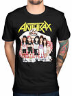 Official Anthrax Euphoria Group Sketch T-Shirt Rock Amoung The Living Fistful Of