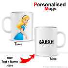 Personalised Disney Characters Tea Coffee Mug Printing Cartoon Xmas Gifts Text